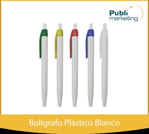 Bolígrafo Plástico Blanco 507