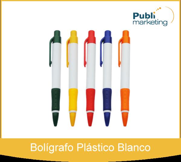 Bolígrafo Plástico Blanco 509