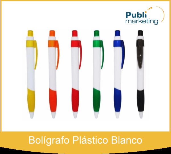 Bolígrafo Plástico Blanco 511