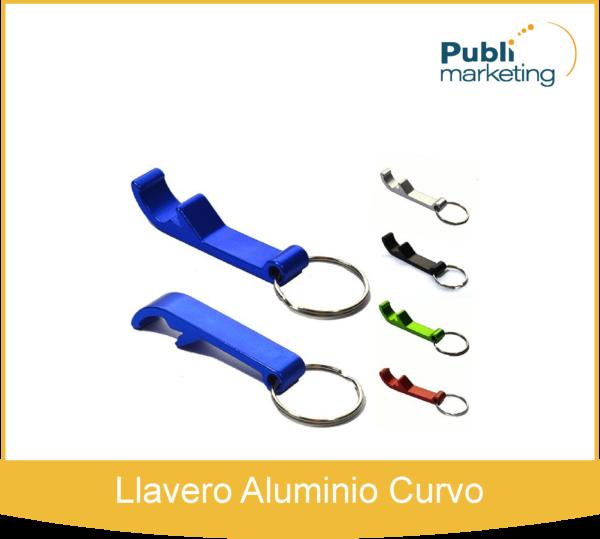 Llavero Aluminio Curvo