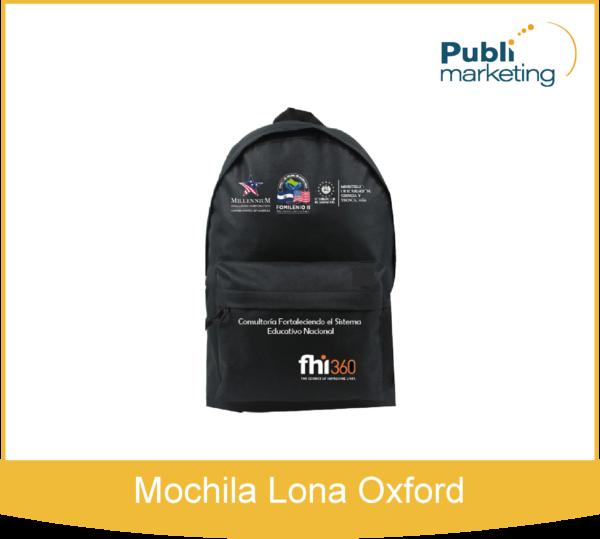 Mochila Lona Oxford