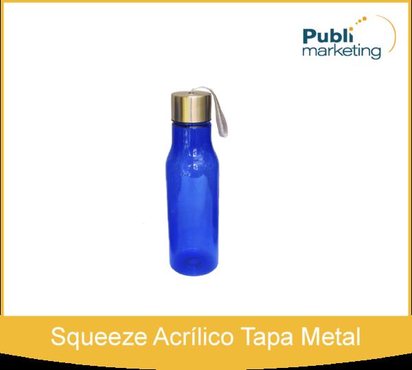 Squeeze Acrílico Tapa Metal