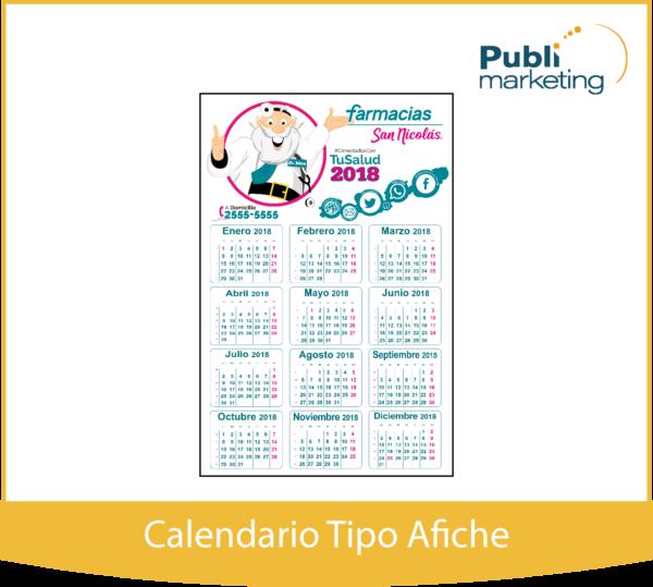 Calendario Tipo Afiche