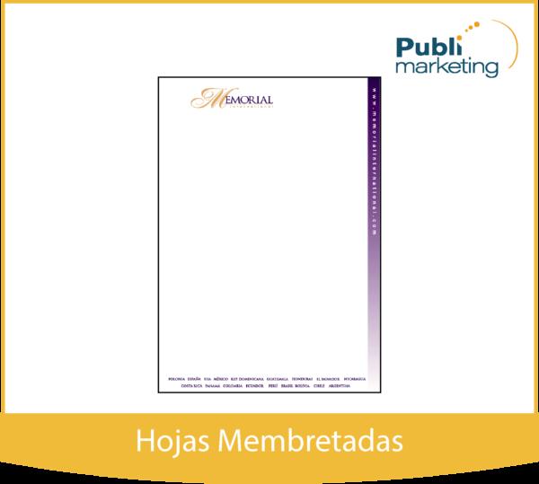Hojas Membretadas