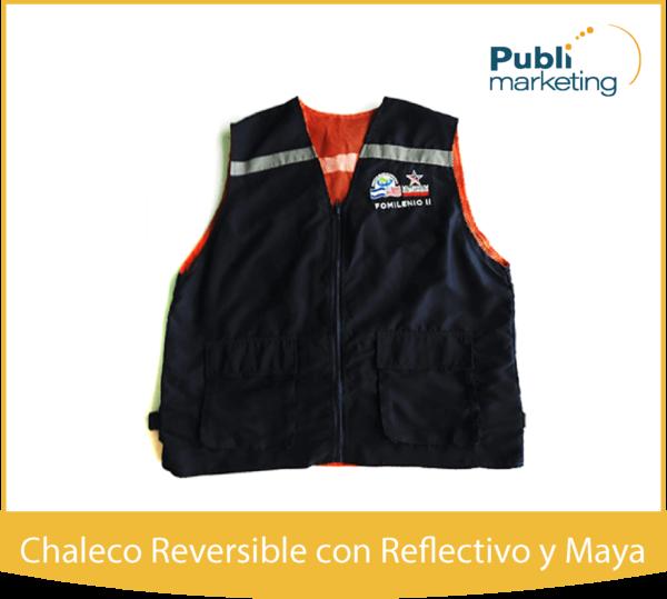 CHALECO REVERSIBLE CON REFLECTIVO Y MAYA